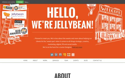 Screenshot of Services Page jellybeancreative.co.uk - Foodservice Marketing Agency - Foodservice Marketing Agency - Foodservice PR Agency - Foodservice Public Relations - captured Oct. 8, 2014