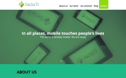 Screenshot of Home Page factati.com - Facta TI - captured Sept. 30, 2014