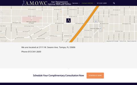 Screenshot of Locations Page agemanagementoptimalwellness.com - Locations - Age Management & Optimal Wellness Centers - captured Nov. 2, 2014
