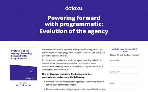 Screenshot of Landing Page dataxu.com captured Oct. 3, 2018