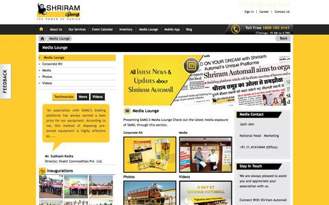 Screenshot of Press Page samil.in - SAMIL Media Lounge - Corporate Kit, Latest News, Photos, Videos - captured Nov. 18, 2016