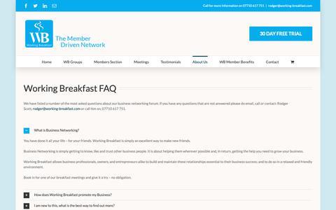 Screenshot of FAQ Page working-breakfast.com - FAQ - My CMS Bristol - captured Oct. 20, 2018