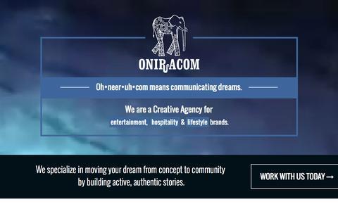 Screenshot of Home Page oniracom.com - Welcome : Oniracom - captured Jan. 12, 2016