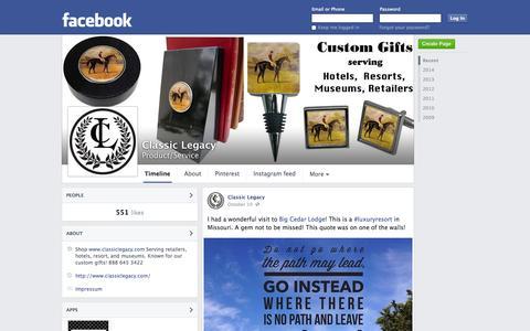 Screenshot of Facebook Page facebook.com - Classic Legacy | Facebook - captured Oct. 22, 2014
