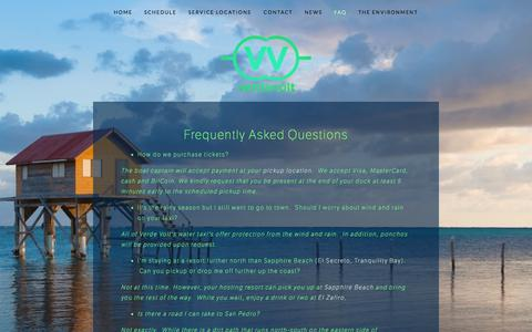 Screenshot of FAQ Page verdevolt.com - FAQ — Verde Volt - captured Oct. 26, 2014