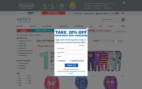Baby Girl Pajamas & Sleepwear | Carter's | Free Shipping