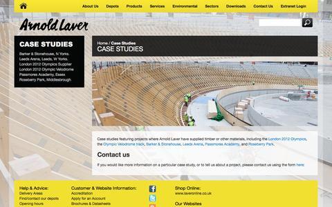 Screenshot of Case Studies Page laver.co.uk - Arnold Laver Case Studies - captured Feb. 6, 2016