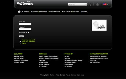 Screenshot of Login Page engeniustech.com - Login - captured Sept. 25, 2014
