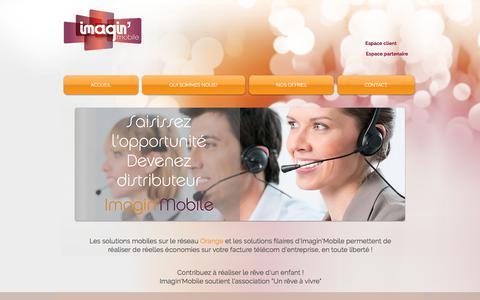 Screenshot of Home Page imaginmobile.fr - Imagin'Mobile - captured June 7, 2017