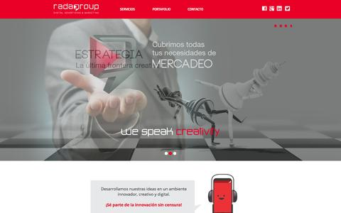 Screenshot of Home Page radagroup.com - Radagroup Digital Advertising & Marketing - captured Jan. 22, 2015
