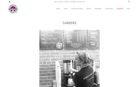 Screenshot of Jobs Page myglcc.com - Careers – Great Lakes  Chocolate & Coffee - captured Sept. 4, 2017