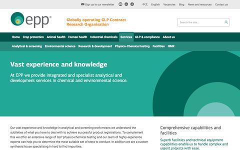 Screenshot of Services Page eppltd.com - EPP Ltd - Services - captured Oct. 26, 2016