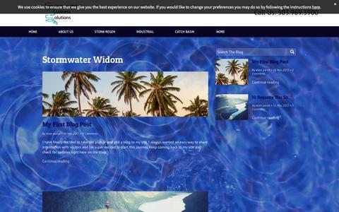 Screenshot of Blog stormregen.com - Storm Regen Technology/Portand, Or. Stormwater Management - captured Jan. 22, 2016