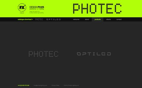 Screenshot of Products Page photeclighting.com - Photec Lighting Product List   Specialist LED Developer and Supplier - captured Sept. 29, 2014
