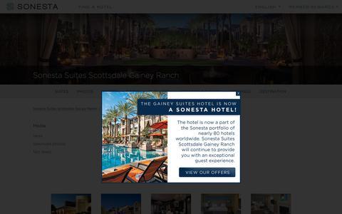 Screenshot of Press Page sonesta.com - Media | Sonesta Suites Scottsdale Gainey Ranch - captured Nov. 10, 2018
