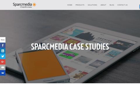 Screenshot of Case Studies Page sparcmedia.com - AU_New Website_Case Study - captured Aug. 15, 2016