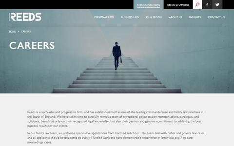 Screenshot of Jobs Page reeds.co.uk - Careers - Reeds Solicitors & Chambers - captured Oct. 21, 2017