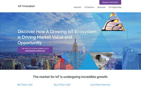 Screenshot of Home Page internet-of-things-innovation.com - IoT Innovation - IoT Management Solutions - captured July 5, 2018