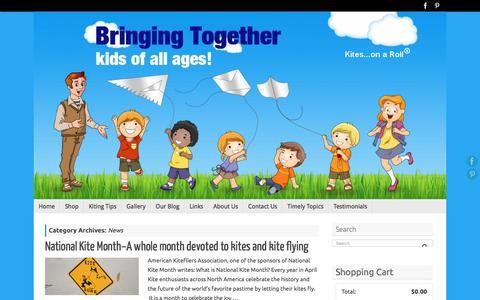 Screenshot of Press Page kitesonaroll.com - News | Kites…on a Roll - captured June 21, 2017