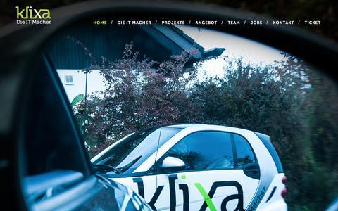 Screenshot of Home Page klixa.ch - Klixa AG - Informatik in Pratteln (BL) bei Basel, Baselland, Nordwestschweiz, Schweiz. - captured April 8, 2016