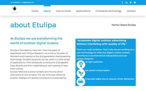 Screenshot of About Page etulipa.com - about Etulipa - Etulipa - captured May 21, 2017