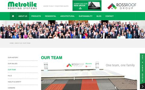 Screenshot of Team Page metrotile.com - Our Team   Metrotile Roofing Systems - captured Nov. 13, 2018