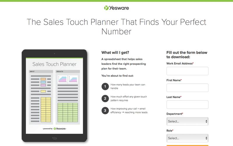 The Sales Touch Planner That Finds Your Perfect Number | Yesware