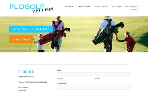 Screenshot of Contact Page flogolf.nl - Contact Flogolf Ń Flogolf - captured Jan. 8, 2016