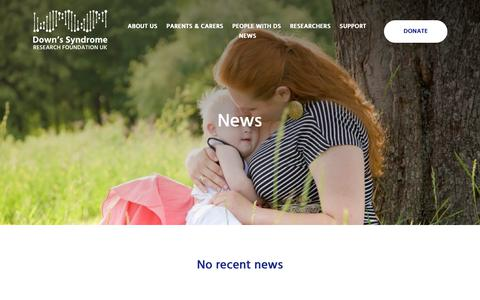 Screenshot of Press Page dsrf-uk.org - News | Down Syndrome Research Foundation - captured Nov. 14, 2018