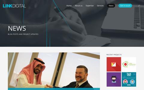 Screenshot of Press Page linkdigital.com.au - News > Link Digital - captured July 20, 2018