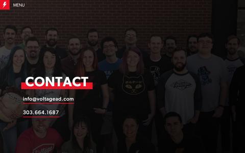 Screenshot of Contact Page voltagead.com - Voltage- Contact | Digital Agency - captured Dec. 10, 2018