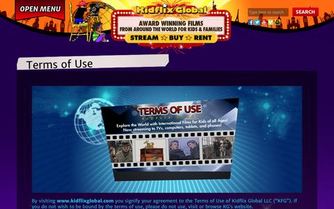 Screenshot of Terms Page kidflixglobal.com - Terms of Use - Kidflix Global : Kidflix Global - captured Jan. 9, 2016