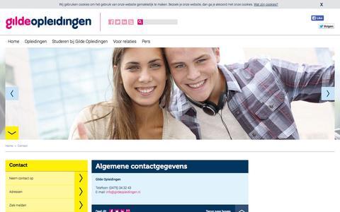 Screenshot of Contact Page gildeopleidingen.nl - Contact - captured Sept. 30, 2014