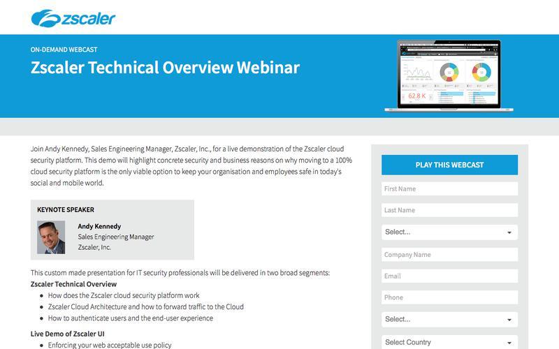 Zscaler Technical Overview Webinar