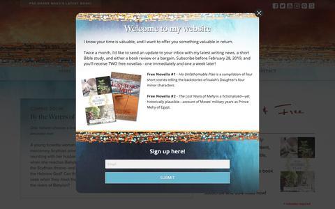 Screenshot of Home Page mesuandrews.com - Mesu Andrews - Christian Author - captured Oct. 17, 2018