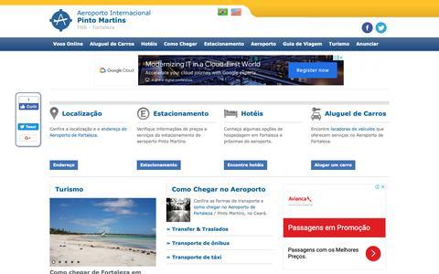 Screenshot of Home Page aeroportofortaleza.net - Aeroporto Internacional de Fortaleza - Pinto Martins - CE - FOR - captured Oct. 10, 2018