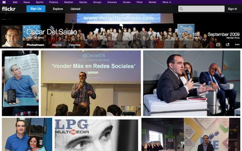 Screenshot of Flickr Page flickr.com - Flickr: Oscar Del Santo's Photostream - captured Oct. 26, 2014