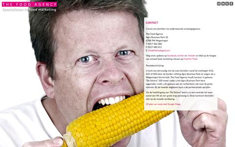 Screenshot of Contact Page thefoodagency.nl - Contact - - - captured Oct. 26, 2014