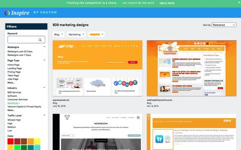 Screenshot of Blog crayon.co - Marketing Blogs | Website Inspiration and Examples | Crayon - captured Nov. 26, 2019