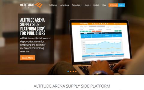 Screenshot of Home Page altitudedigital.com - Video Supply Side Platform | Altitude Digital - captured Sept. 13, 2014