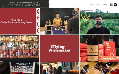 Screenshot of Home Page flyingwinemaker.asia - The Flying Winemaker - captured Nov. 30, 2016
