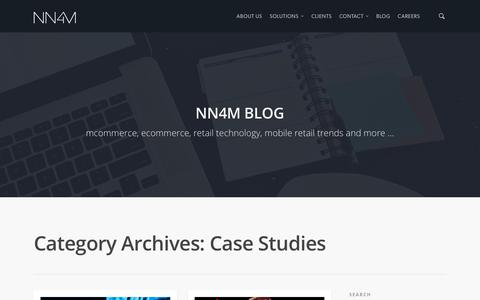 Screenshot of Case Studies Page nn4m.co.uk - Case Studies |  NN4M – Mobile Commerce App Provider - captured Oct. 19, 2018