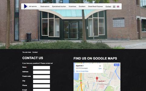 Screenshot of Contact Page jbc-agencies.nl - JBC Agencies - captured Oct. 3, 2014