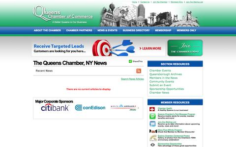 Screenshot of Press Page queenschamber.org - The Queens Chamber, NY News - The Queens Chamber | Queens Chamber of Commerce | East Elmhurst, NY - captured Oct. 3, 2014