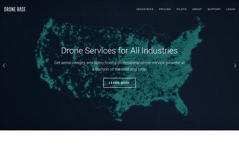 Screenshot of Home Page dronebase.com - Professional Drone Services | DroneBase - captured March 24, 2019