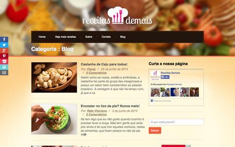 Screenshot of Blog receitasdemais.com.br - Blog | Receitas Demais - Fáceis, Rápidas e Simples! - captured Nov. 4, 2014