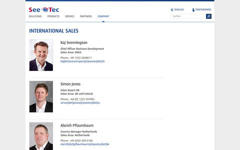 Screenshot of Contact Page seetec-ag.com - Contact Persons   SeeTec AG - captured Oct. 27, 2014