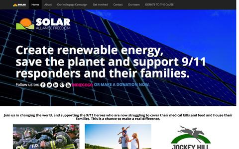 Screenshot of Home Page About Page Contact Page Terms Page Team Page freedomsolaralliances.com - SOLAR ALLIANCE FREEDOM - captured Nov. 25, 2016