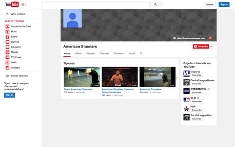 Screenshot of YouTube Page youtube.com - American Shooters  - YouTube - captured Oct. 23, 2014