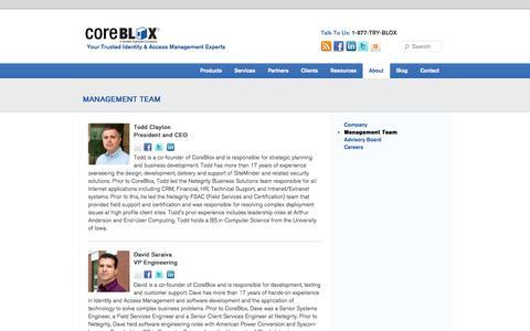 Screenshot of Team Page coreblox.com - CA SiteMinder Identity & Access Management Experts | CoreBlox - captured Sept. 30, 2014